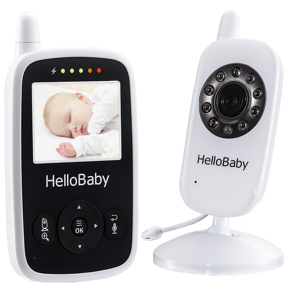 Hello Baby Wireless Video Baby Monitor with Digital Camera HB24, Night Vision Temperatur ...