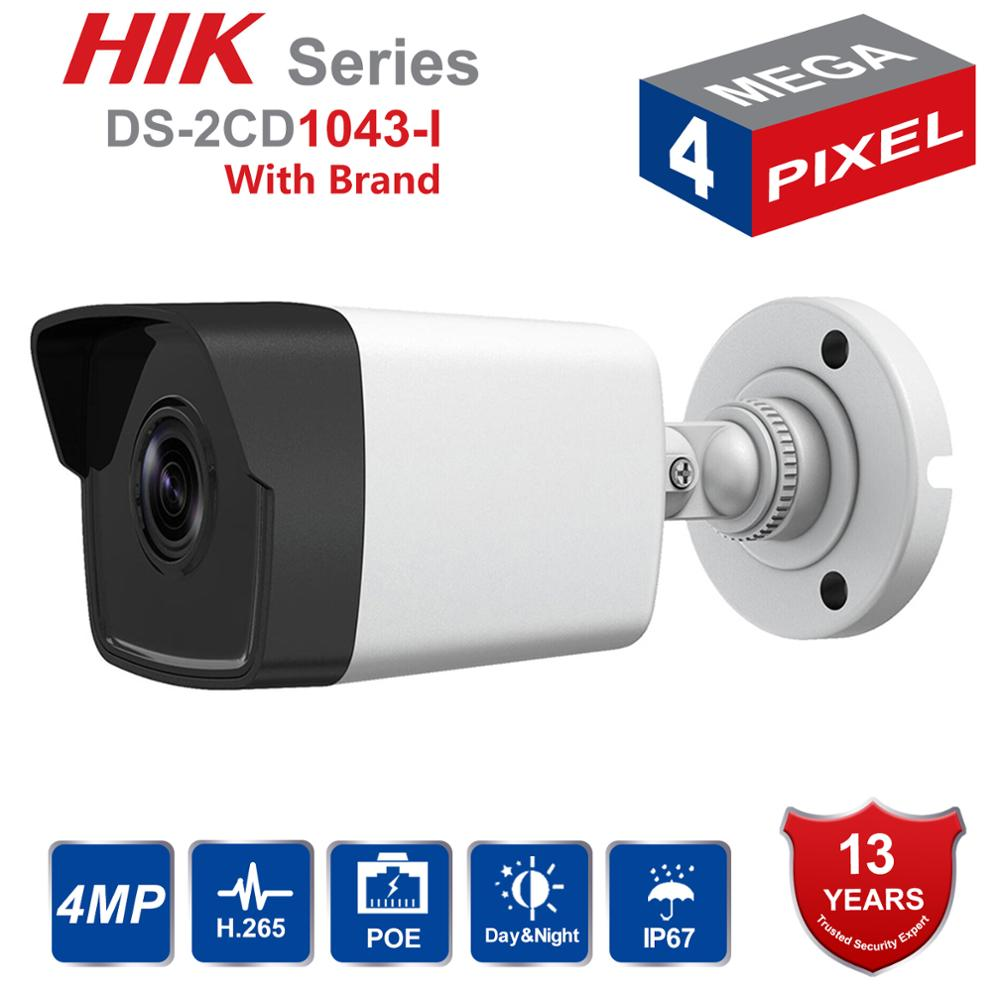 Hik Original English Bullet IP Camera DS-2CD1043G0-I 4MP CMOS 1080P Full HD Security IP Camera Onvif Replace DS-2CD1041-IHik Original English Bullet IP Camera DS-2CD1043G0-I 4MP CMOS 1080P Full HD Security IP Camera Onvif Replace DS-2CD1041-I