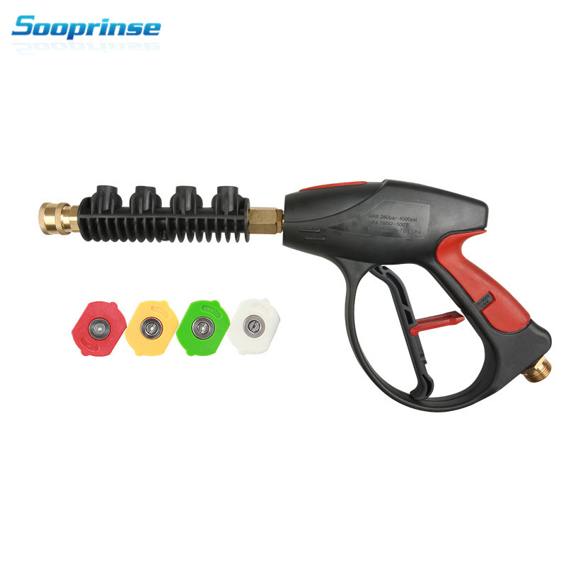 Image 5 - High Pressure Washer Water Gun Wand Tips Pistol Short Spray Gun Jet Lance Nozzle 4 Quick coupler spray Nozzle,4000 PSI 2019New-in Water Gun & Snow Foam Lance from Automobiles & Motorcycles