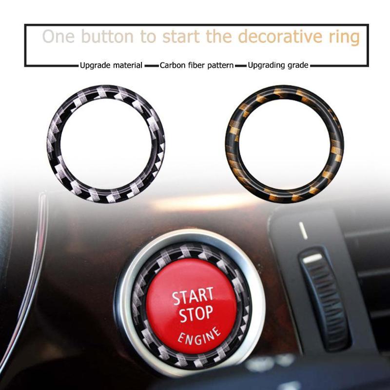Двигатель автомобиля кнопка старт/стоп декоративное кольцо, Накладка для BMW 1/3/5 серий E87 E90 E60 320 автомобильные аксессуары интерьера Молдинги