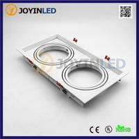 무료 배송 더블 헤드 프로스트 화이트 고전력 led 그릴 라이트 홀더/짐벌 키트 DC12V AR111 LED 스포트 라이트 피팅 키트