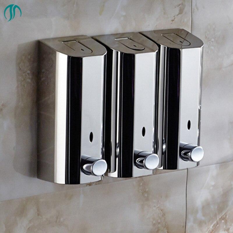 500mlX3 Hand Wall Mount Soap Sanitize Liquid Soap Dispenser Nozzle Bathroom Hand Soap Dispenser Wall Stainless
