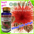 (Купить 3 Получить 1 Бесплатно) Родиолы Экстракт Родиолы Розовой 500 мг/100 Мягких 3% 1% Rosavins Salidrosides капсулы
