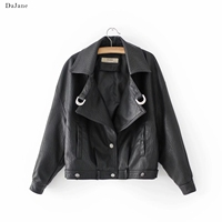 Autumn Winter New women's faux Leather Locomotive Jacket long sleeved Shirt Manufacturers Leather Jacket Women
