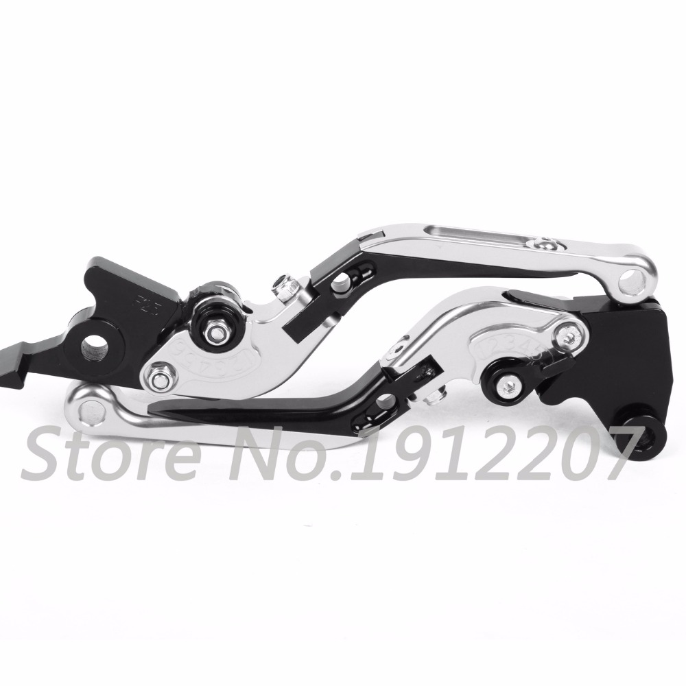 ФОТО For Kawasaki GPZ500S/EX500R NINJA 1990-2009 Foldable Extendable Brake Clutch Levers Aluminum Alloy CNC Folding&Extending A Pair