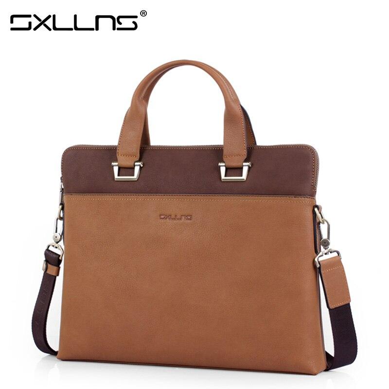 Brand Handbag New Men Shoulder Bags Leather Tote Bag Sxllns Crossbody Bag Business Casual Briefcase Men's Messenger Bag