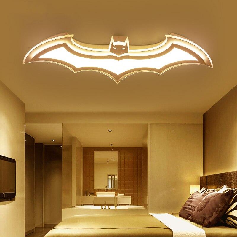 Lámpara de techo de Batman para niños, luces de techo de sala de estar 110V 220 V, luz de techo moderna, led simple con control remoto - 5