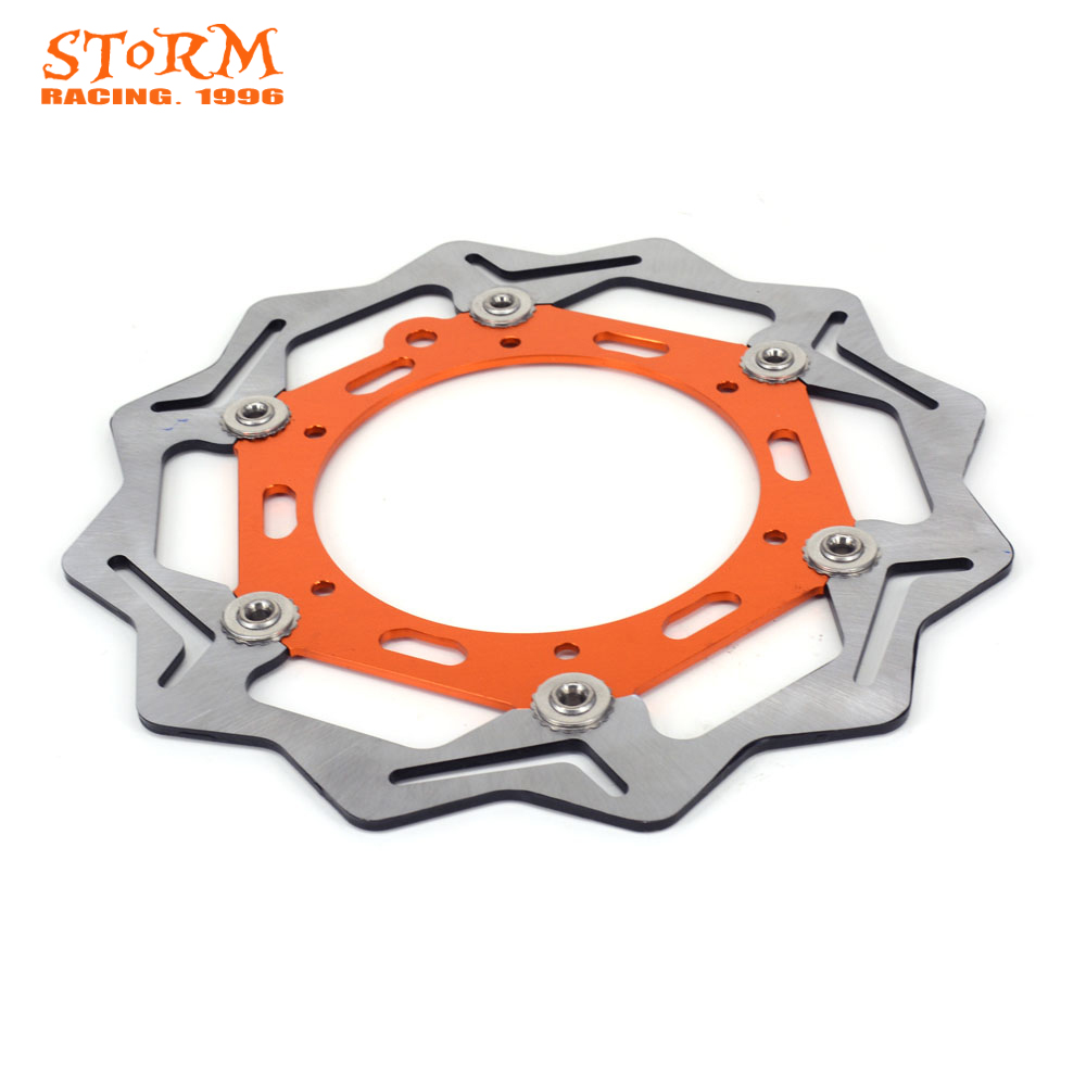 цена на 270MM Wavy Front Floating Brake Discs For KTM EXC GS SX SXS SXF XCW EXC-F MX MXC EXCR XCG LC4 125 200 250 300 380 400 450 520