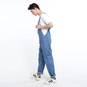 Image 2 - سعر خاص الرجال عادية فضفاض جيب أفرول مريح الأزرق الدنيم حللا حجم كبير الجينز للرجل حجم 32 34