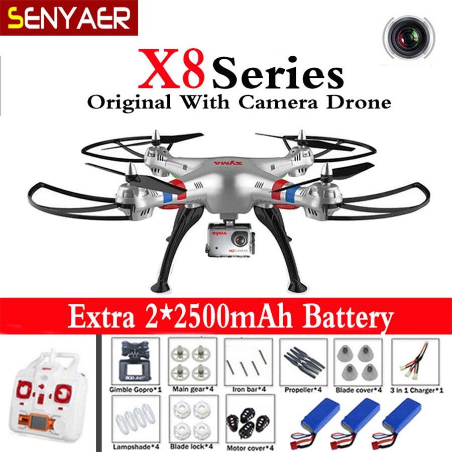 Syma x8g x8c x8w 6-axis drone 2.4g 4ch rc helicóptero con Cámara de 5MP CAM Prof