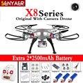 Syma x8g x8c x8w zangão 2.4g 4ch 6-axis rc helicóptero com CAM Quadcopter FPV Câmera de 5MP Grande Angular Sem Cabeça Profissional toys