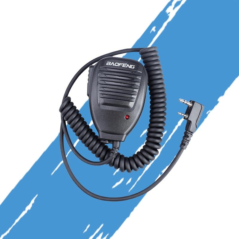 2 Pin PTT Speaker Mic For Kenwood BAOFENG UV-5R BF-888S Retevis H777 RT3 TYT PUXING QUSHENG Ham Radio Walkie Talkie C9001A