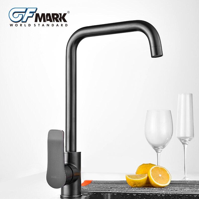 GFmark Vintage Brass Kitchen Faucet Brushed ORB Surface Mixer Crane Classic Black Taps Kitchen Sink Mixer