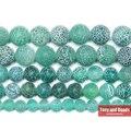 Бесплатная доставка натуральный камень Мороз Краб зеленый Агаты круглые свободные бусины 6 8 10 12 мм выберите размер для ювелирных изделий - фото