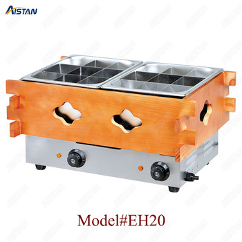 EH10/20/30 Commercial Stainless steel Kanto cooking machine with wooden decoration for kitchen equipment 2