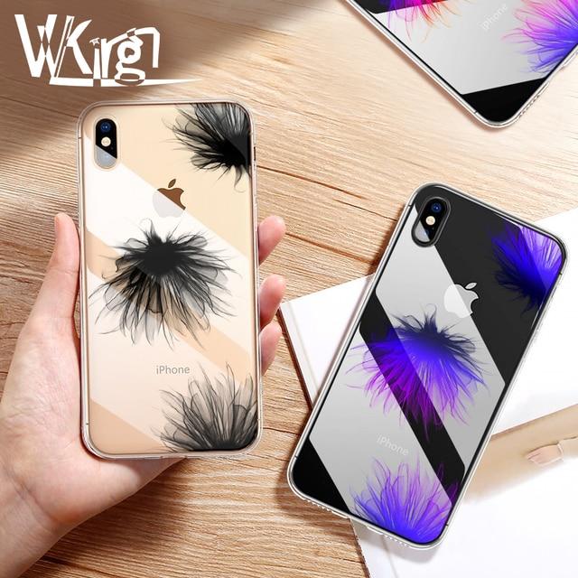 Funda de lujo VVKing para iPhone X XS 8 7 6 6 s Plus Ultra delgada funda de silicona suave TPU funda para iPhone XR Coque relieve flor