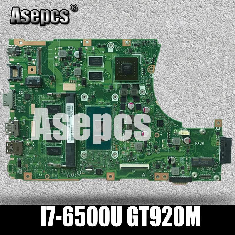 For X456U X456UQ X456UB A456U X456UJ Motherboard i7-6500U CPU 4GB GT920M DDR3