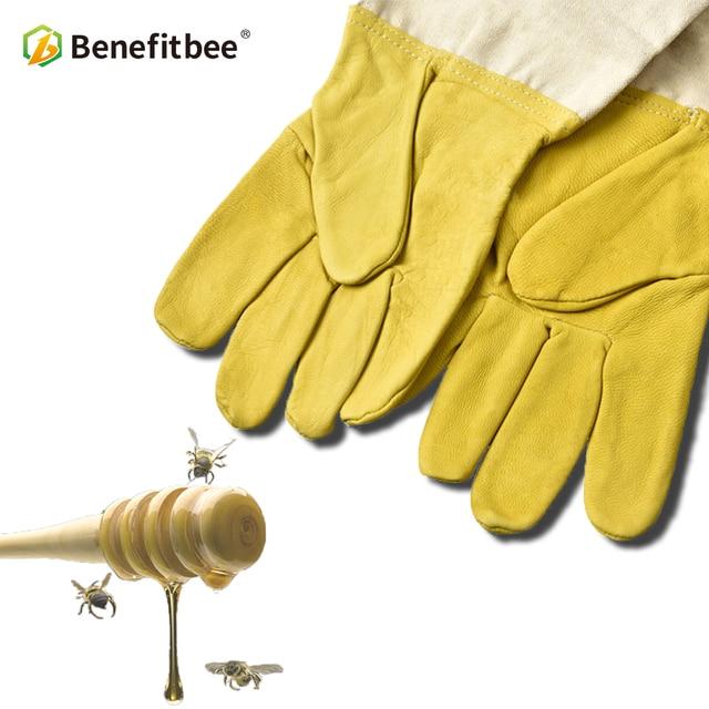 Benefitbee Ape Guanti di pelle di Pecora Anti-bee Apicultura Strumenti di Apicol