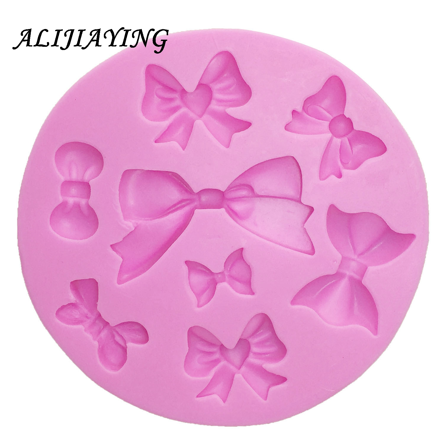 Beautiful Bow Silicone Mold Fondant Mould Cake Decorating Tools Chocolate Gumpaste Molds Sugarcraft Kitchen Accessories D0218 in Cake Molds from Home Garden