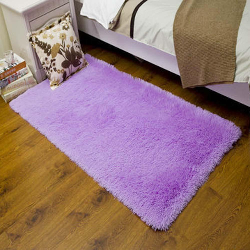 fluffy rugs anti skiding shaggy area rug dining room carpet floor mats purple shaggy rugs shag