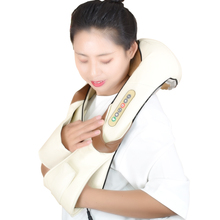 Shiatsu Cervical Back and Neck Massager Shawl Electric Roller Heat Device Manual China Home Car Massage Machine