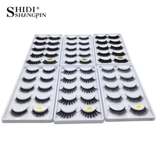 лучшая цена SHIDISHANGPIN 1 Box 3D Mink Eyelashes Natural Long  False Mink Lashes 1cm-1.5cm 3D Eyelashes Hand Make Makeup Full Strip Lashes