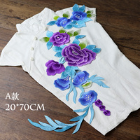 extra applique embroidery flower patches para vestuario decorative sew on designer patches for jeans parches bordados para ropa