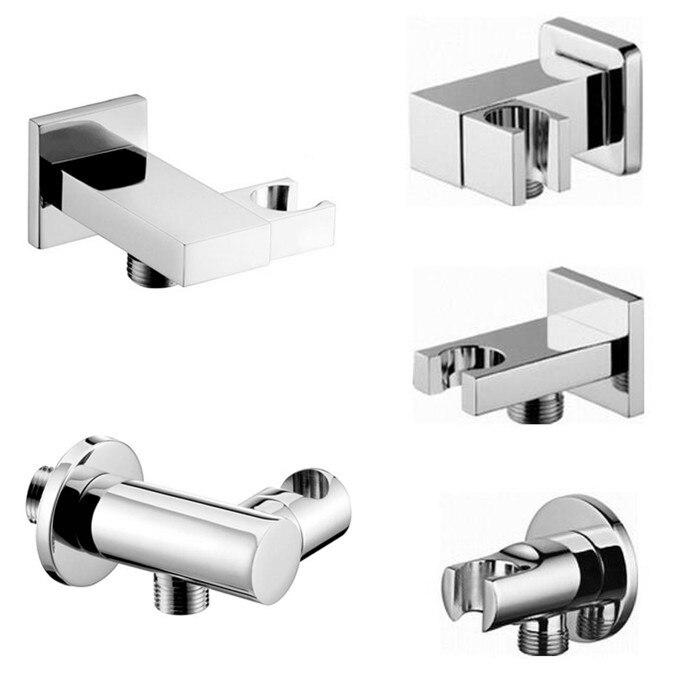 Free shipping Soild Brass Handheld Shower Spray Head Holder Bracket Wall Mount for Bathroom Hand Sprayer Wand Poilsh Chrome SH01 аксессуар dicom ditech sh01