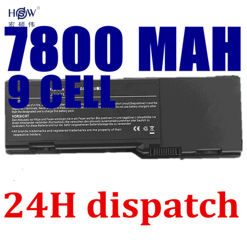 HSW 7800mAh <font><b>Battery</b></font> For <font><b>dell</b></font> <font><b>Inspiron</b></font> E1505 6400 <font><b>1501</b></font> Latitude 131L 451-10339 451-10424 GD761 JN149 KD476 PD942 PD945 image