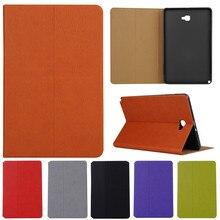Moda libro de cuero case tablets accesorios fundas cubierta de negocios para samsung galaxy tab a a6 10.1 p580 p585 soporte de la pu casos