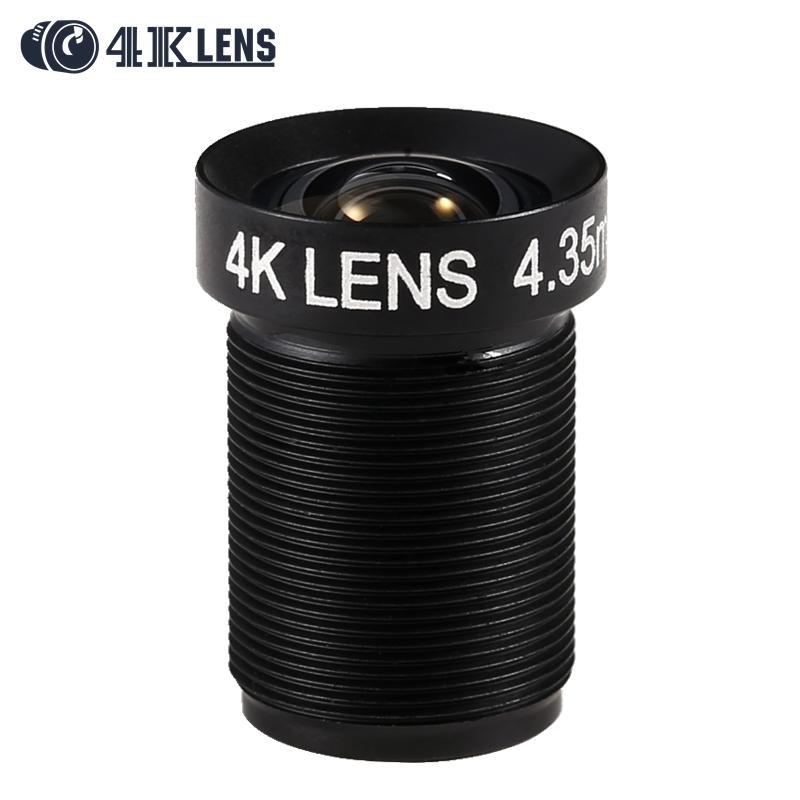 4K LENS 4 35MM Lens 1 2 3 Inch 10MP IR 72D Flat Lens for Gopro