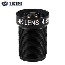 4K LENS 4.35MM Lens 1/2.3 Inch 10MP IR 72D Flat Lens for Gopro Xiaomi Yi SJCAM DJI Phantom 3/4 Drones 2017 Newly Quality