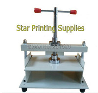 Manual flat paper press machine for books  tickets  check A4 size