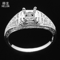 Art Nouveau Jewelry Sterling Silver 925 Semi Mount Ring Round Cut 5mm Wholesale Art Deco Classic for Women Vintage Antique Ring