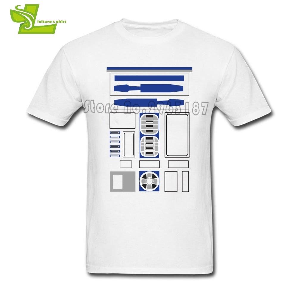 Star Wars R2D2 T Shirt Man Short Sleeve Crew Neck Club Tee Male Plus ...
