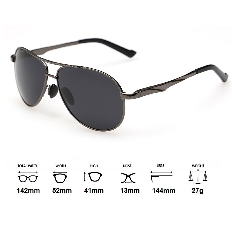 ed9ffbf86d Cubojue Aviation Black Men s Sunglasses Polarized Driving Gold Brown Pilot Sunglass  Male Fishing Frog Sun Glasses for Man-in Sunglasses from Apparel ...