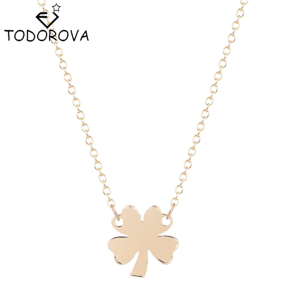 Online get cheap flower girl gifts aliexpress alibaba group todorova trendy flower vintage jewelry necklace women girls four leaves clover necklaces bijoux pendant for mother birthday gift dhlflorist Image collections