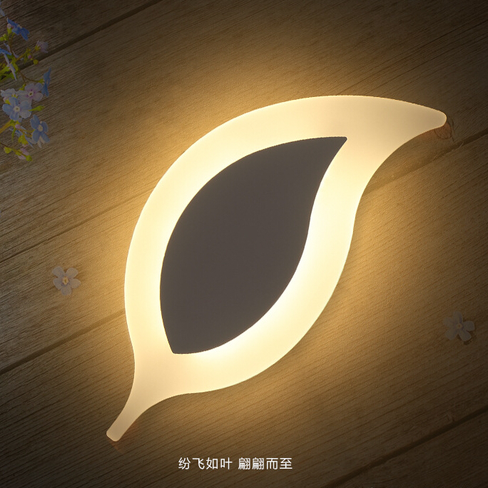 Modern Led Wall Lights Leaf wall lamp For Living Room Hallway Bedroom Surface Mounted Home Decoration
