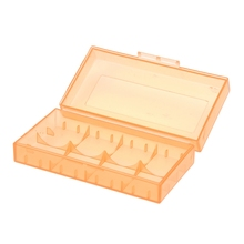 цена на 18650 CR123A 16340 Rechargeable Battery Hard Case Holder Box Storage Box orange
