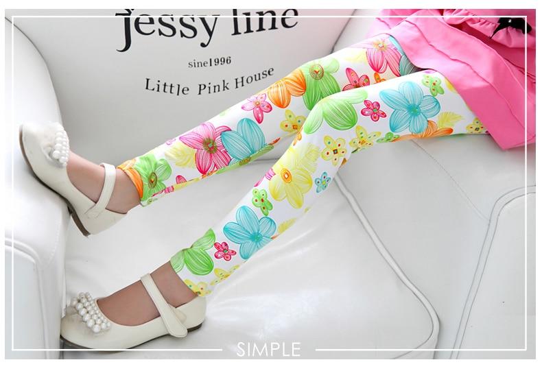 100% Wahr Klar Lager! Baby Mädchen 2017 Herbst Blume Leggings Kinder Candy Farbe Soft Korea Blumendruck Hosen