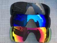 3 คู่สีดำและน้ำแข็งสีฟ้าและไฟสีแดงเลนส์เปลี่ยนเลนส์เลนส์สำหรับแว่นกันแดด Batwolf