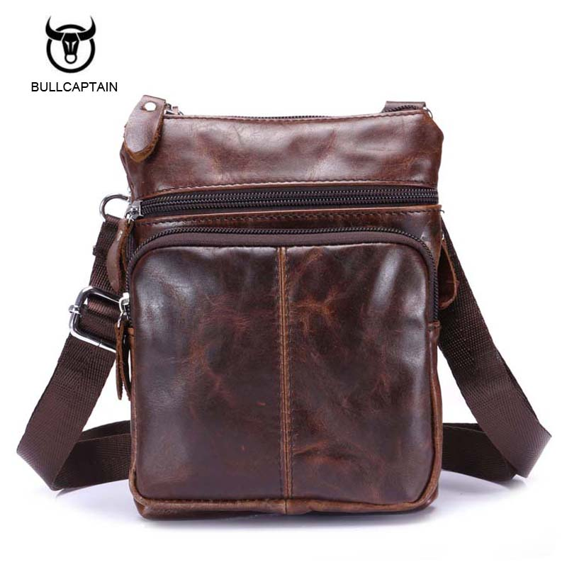 Bullcaptain Genuine Leather men bags male cowhide flap bag Shoulder Crossbody bags Handbags Messenger small men Leather bag new style alligator genuine leather small messenger bags for men crossbody bag cowhide men single shoulder bag male handbags