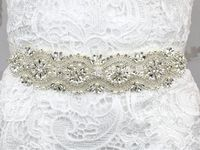 Free shipping 2016 hot Wedding Luxury Elegant Women Crystal Rhinestones Sash Belt Wedding Bridal Sash Pearl Beading Handmade