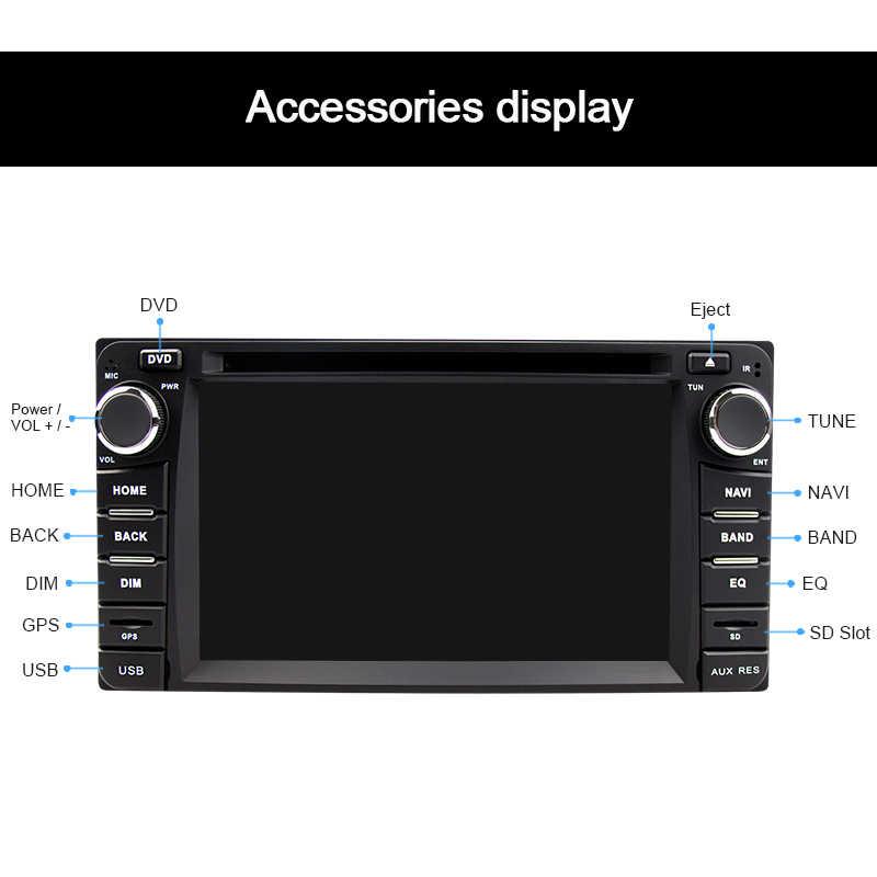 Eunavi 2din カー dvd ラジオプレーヤートヨタハイラックス VIOS 旧カムリプラド RAV4 プラド 2003-2008 gps ナビゲーションステレオタッチスクリーン