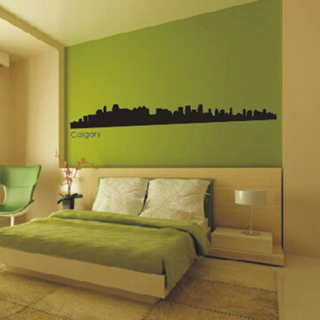 Calgary City Decal Landmark Skyline Wall Stickers Decals Poster Parede Home Decor Sticker & Calgary City Decal Landmark Skyline Wall Stickers Decals Poster ...