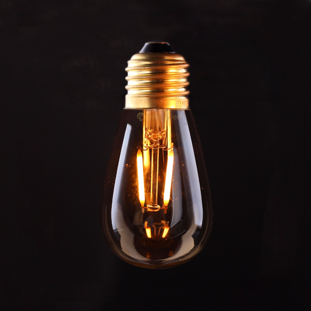 Vintage <font><b>LED</b></font> Filament Bulb,Gold Tint,<font><b>Edison</b></font> ST45 Style,1W 2200K,Decorative Lighting Lamp,<font><b>Dimmable</b></font>