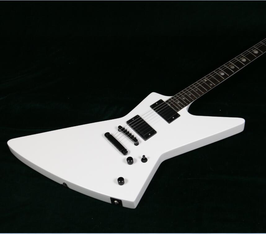 starshine customzied esp explorer electric guitar white color emg pickups finger inlay on. Black Bedroom Furniture Sets. Home Design Ideas