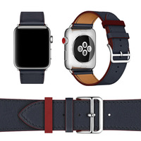 38mm 42mm Leather Band For Apple Watch Bracelet Single Tour Herm Watchband Genuine Leather Wrist Strap For Apple Series 4 iWatch