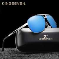 KINGSEVEN Brand Designer Polarized Sunglasses For Men Driving Aluminum Frame  Traveling Sun Glasses Men s Eyewear Oculos 395885fb9f