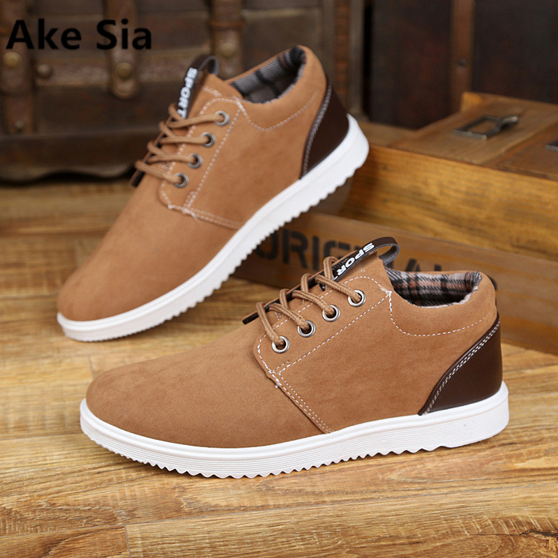 Ake Sia 2017 suede men's shoes spring men's casual shoes breathable British trend plate shoes scrub male shoes